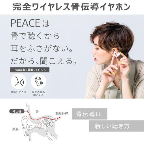 BOCO PEACETW1LB 骨伝導イヤホン earsopen  ライトブルー