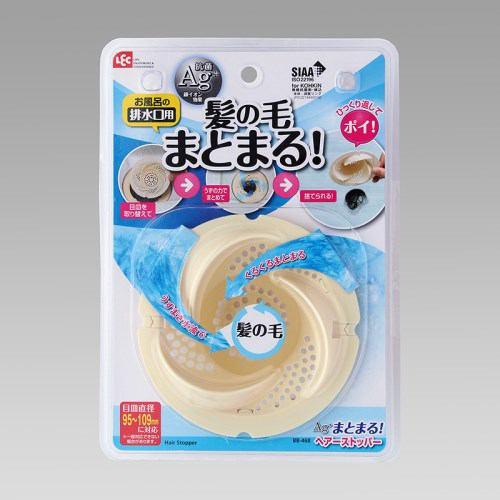 風呂掃除 レック Ag+まとまる!ヘアーストッパー BB-468 ホワイト 幅11.5cm 奥行11.5cm 高さ5.0cm