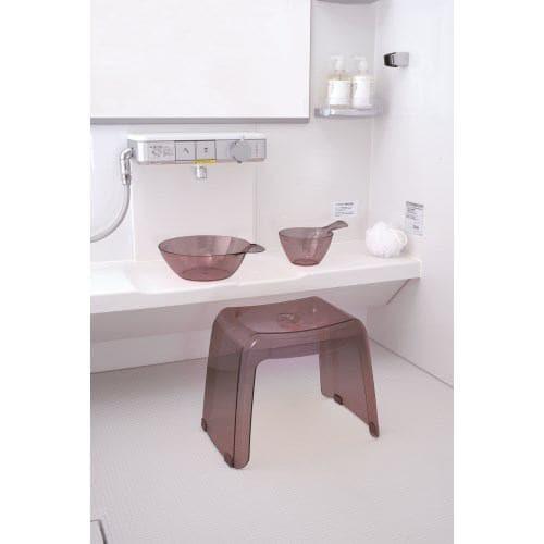 [高さ30cm] 風呂椅子 バスチェア リッチェル カラリ 腰かけ スモークブラウン