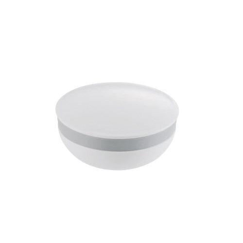 石けん置き 液漏れ防止パッキン付き リッチェル ハユール 丸 ホワイト 高さ4.5cm 洗面収納