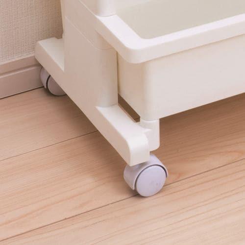 [幅45×奥行30×高さ71.5cm] テーブルワゴン ラック キッチン 収納 キャスター付き リセ3段 ホワイト 隙間
