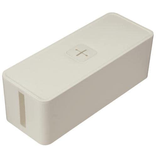 収納用品 ケーブルボックス ホワイト 幅415×奥行160×高さ141mm