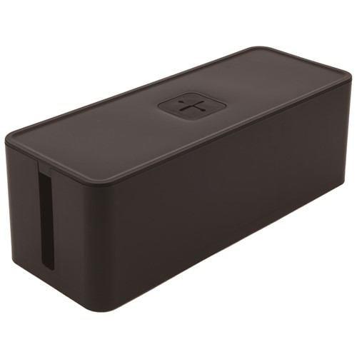 収納用品 ケーブルボックス ブラック 幅415×奥行160×高さ141mm