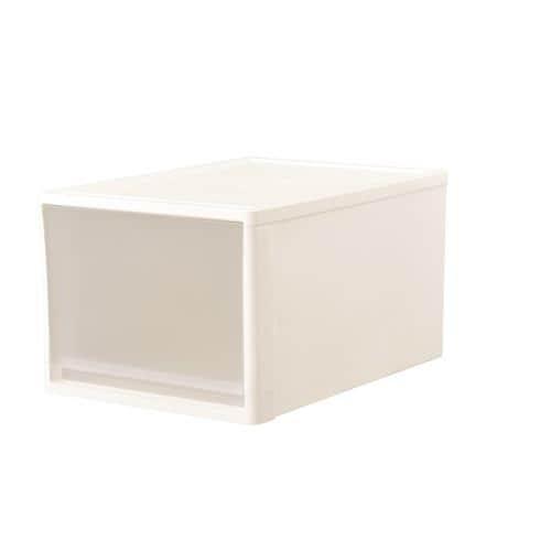 [幅39×奥行53×高さ30cm] 収納ケース プラスチック クローゼット用 ストラ53L ホワイト