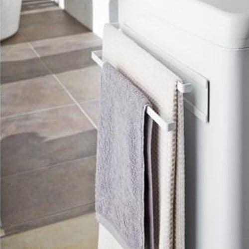 山崎実業 洗濯機横マグネットタオルハンガー2段プレート
