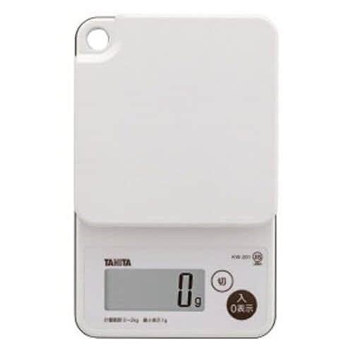タニタ KW-201-WH デジタルクッキングスケール (2kg) ホワイト