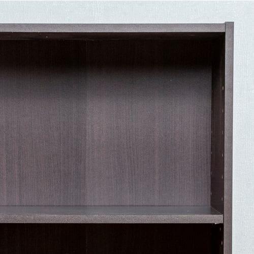 カラーボックス 可動棚3段 ブラウン