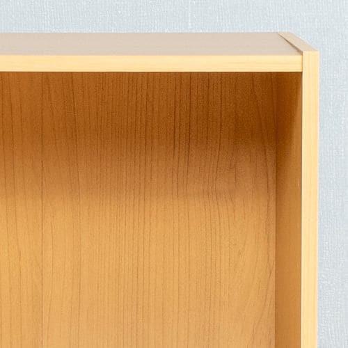 カラーボックス 可動棚2段 ナチュラル