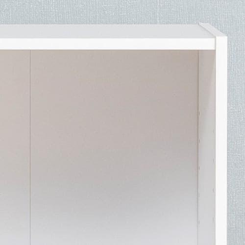 カラーボックス 可動棚2段96613 ホワイト 1人用
