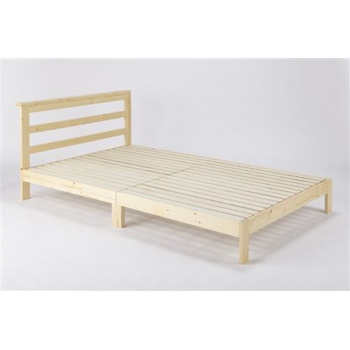 【処分特価】萬代 [セミダブル]木製ベッド SDムーン ナチュラル