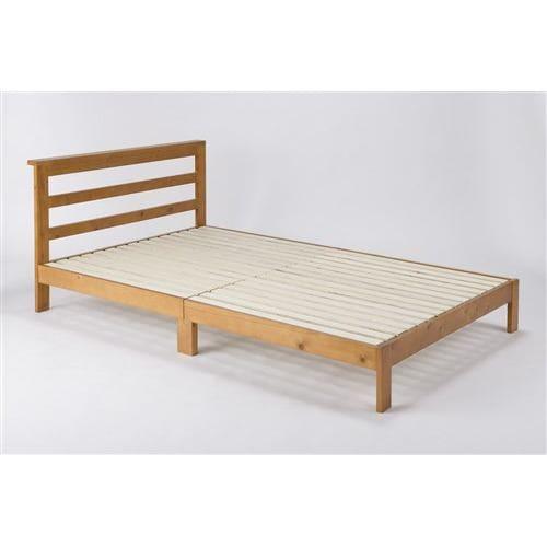 木製ベッド SDムーン LBR ライトブラウン セミダブル