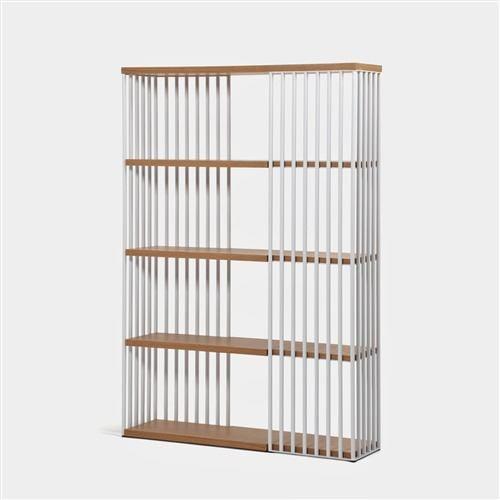 大塚家具 シェルフ「レアリ」124-180 オーク材/ホワイト色