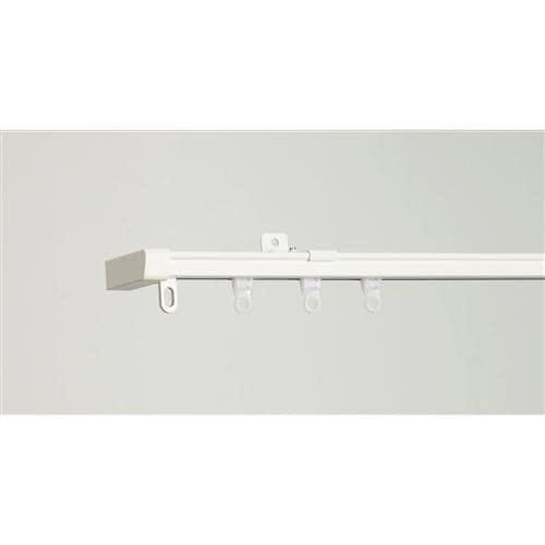 伸縮式カーテンレール AJ606静音R ホワイト シングル1.1~2.0