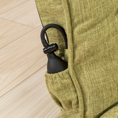 [1人掛]腰部空気調整機能付座椅子 グリーン