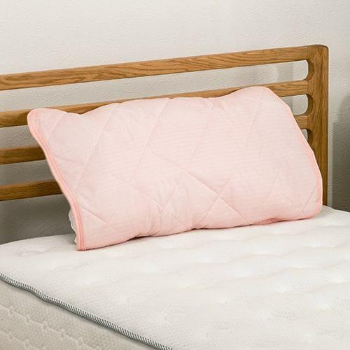 [45×60] ひんやり冷たい接触冷感 枕パッド Just cool ローズ ヤマダオリジナル
