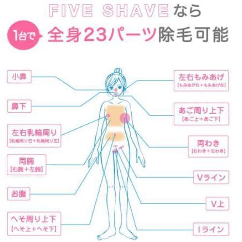 脱毛器 脱毛ラボ 女性 レディース 光美容器 DL003 DatsumoLabo FIVE SHAVE