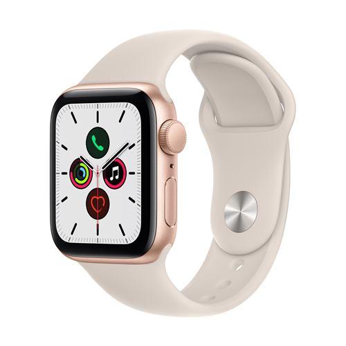 アップル(Apple) MKQ03J/A Apple Watch SE(GPSモデル) 40mm ゴールドアルミニウムケースとスターライトスポーツバンド レギュラー
