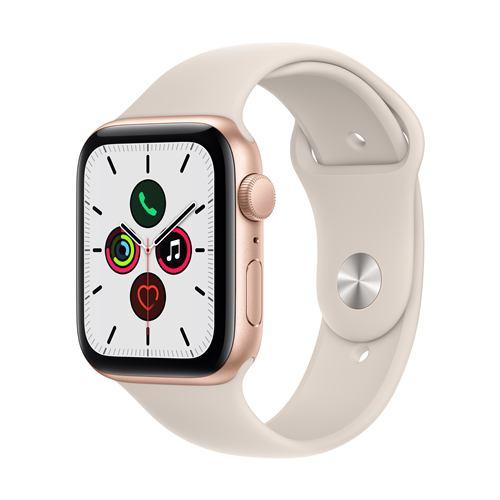 アップル(Apple) MKQ53J/A Apple Watch SE(GPSモデル) 44mm ゴールドアルミニウムケースとスターライトスポーツバンド レギュラー
