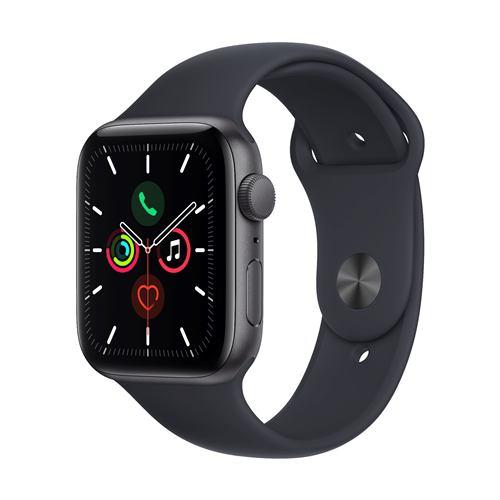 アップル(Apple) MKQ63J/A Apple Watch SE(GPSモデル) 44mm スペースグレイアルミニウムケースとミッドナイトスポーツバンド レギュラー