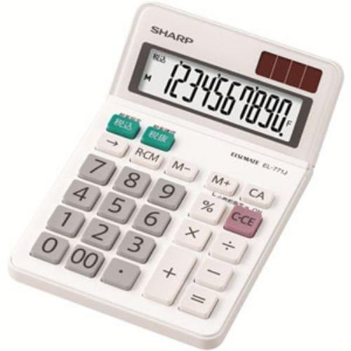 SHARP 電卓 ミニナイスサイズタイプ 10桁 EL-771-JX
