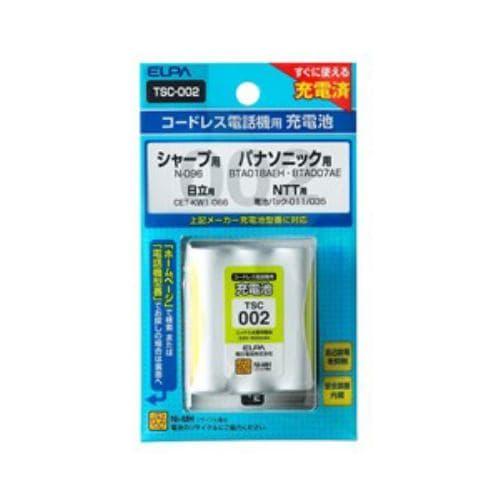 ELPA 電話子機用充電池 TSC-002
