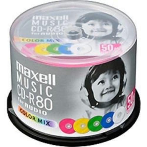 maxell CD-R 「カラーMIX」 80分 (50枚スピンドル) CDRA80MIX50SP