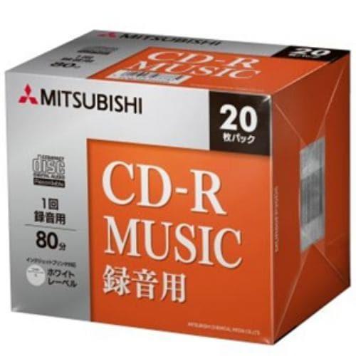 三菱ケミカルメディア MUR80FP20D5 一回書込音楽用 CD-R 48倍速 20枚