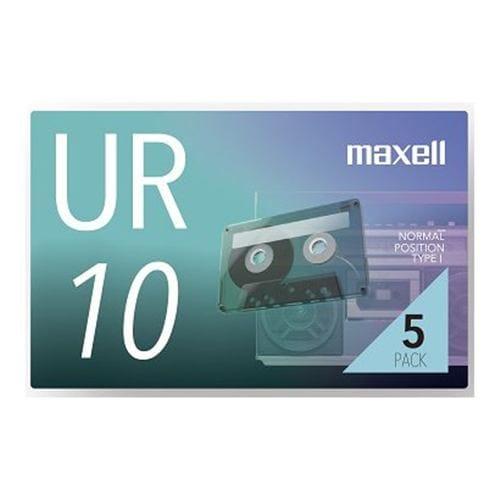 マクセル UR-10N5P カセットテープ 10分 5巻