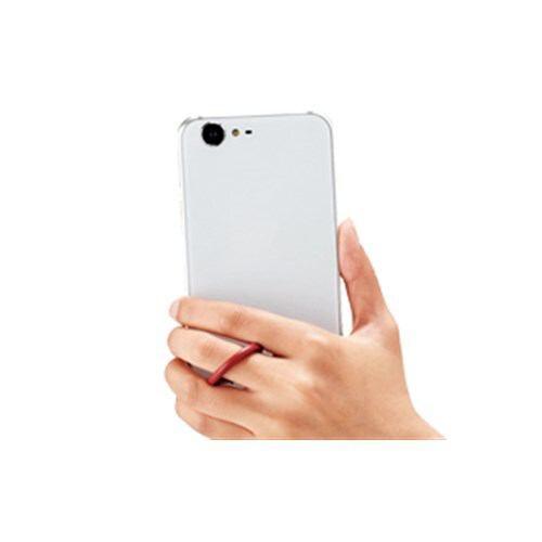 エレコム スマートフォン用フィンガーストラップ(ソフトレザー) ネイビー P-STF03BU