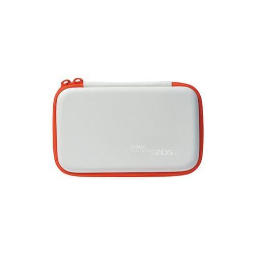 ホリ スリムハードポーチ for Newニンテンドー2DSLL ホワイト×オレンジ  2DS-110