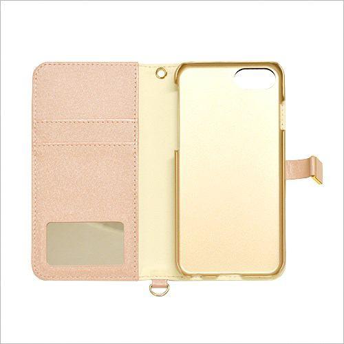RASTA BANANA(ラスタバナナ) 3422IP7SA iPhone8/7/6s/6 ケースカバー 手帳型 viviana ミラー付き ライトピンク