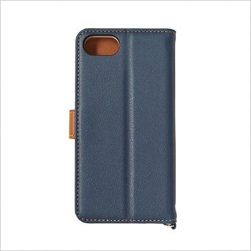 RASTA BANANA(ラスタバナナ) 3433IP7SA iPhone8/7/6s/6 ケースカバー 手帳型 +COLOR 衝撃吸収 NV×BR