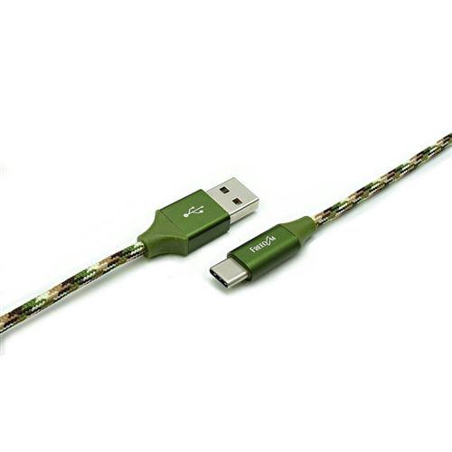 フリーダム FUSB-CAAM910CG 高耐久 USB2.0 USB Type-C to USB Type-Aケーブル 1.0m   グリーン