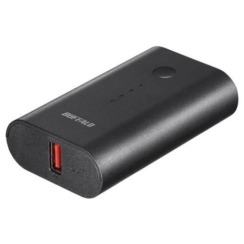 バッファロー BSMPB6720P1BK スマートフォン/タブレット用 モバイルバッテリー 6700mAh 自動判別 1ポート ブラック