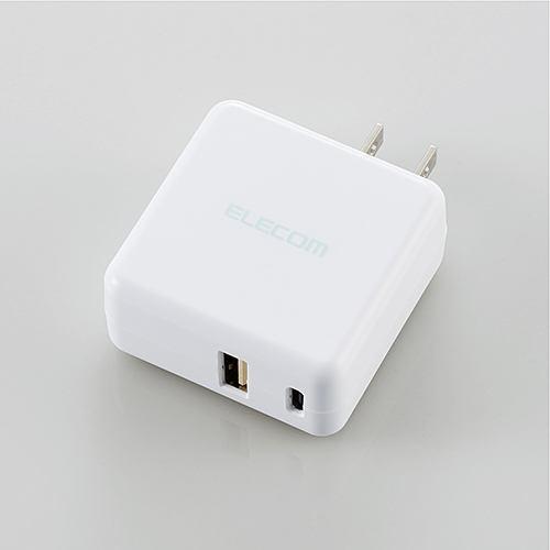 エレコム MPA-ACC07WH AC充電器(3.6A/Type-C+USBポート) ホワイト