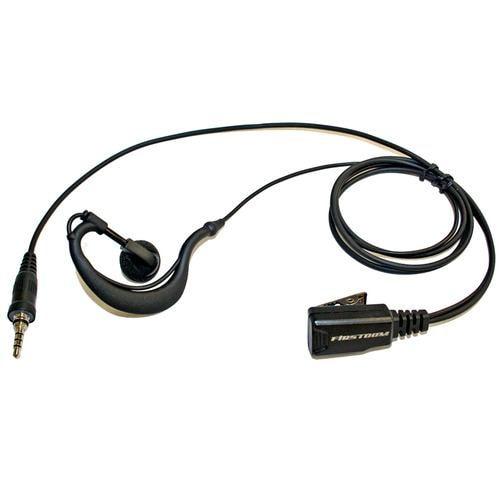 FRC FPG-23WP 【PRO仕様】トランシーバー用耳掛けタイプ・イヤホンマイク(防水タイプ、1Pinねじ込み式) FIRSTCOM