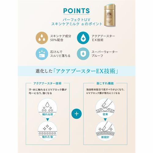 資生堂(SHISEIDO) アネッサ (ANESSA) パーフェクトUV スキンケアミルク a (60mL)