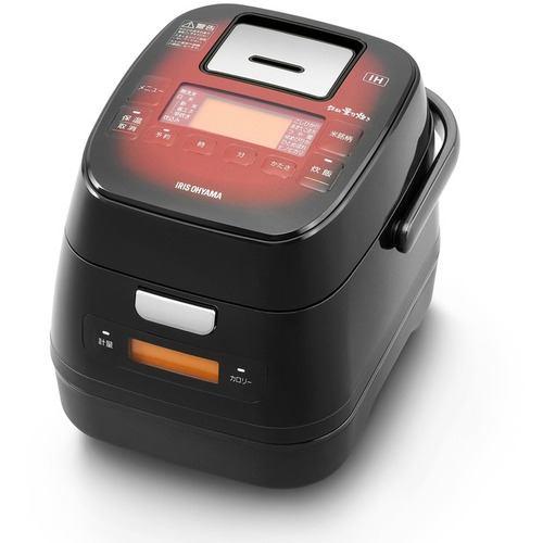 アイリスオーヤマ KRC-IM30-R 分離式量り炊きIHジャー炊飯器3合   レッド