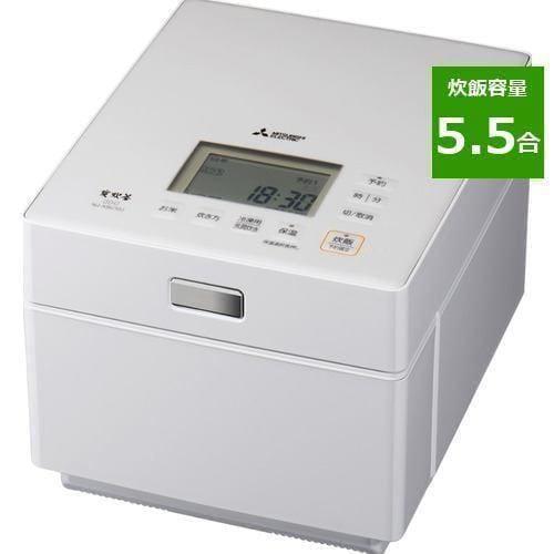 三菱電機 NJ-XSC10-W IHジャー炊飯器(蒸気レスIH) 5.5合 クリスタルホワイト