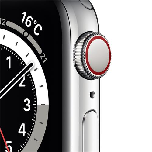 アップル(Apple) M06U3J/A Apple Watch Series 6(GPS + Cellularモデル)- 40mmシルバーステンレススチールケースとシルバーミラネーゼループ