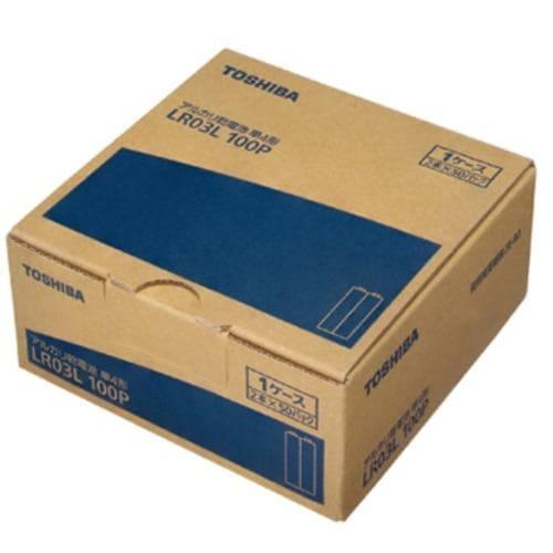 東芝 LR03L 100P アルカリ乾電池 【単4形】100本パック