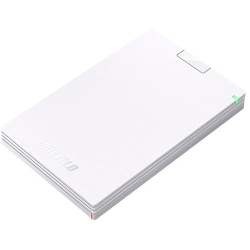 バッファロー HD-PCG1.0U3-BWA ミニステーション USB3.1(Gen1)/USB3.0 ポータブルHDD 1TB ホワイト