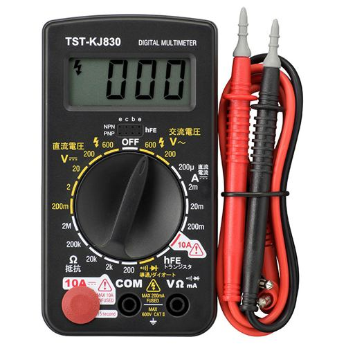 オーム電機 TST-KJ830 デジタルテスター 普及型