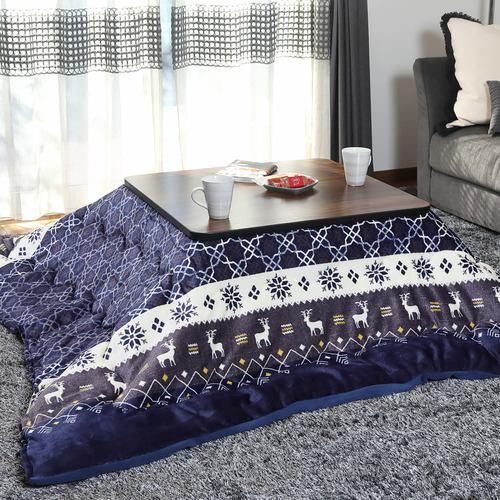 [正方形75×75] YKKGR750J1Kセット ゲームこたつ ブラック