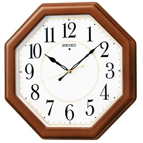 セイコークロック KX389B 電波掛時計 木枠 秒針停止機能付