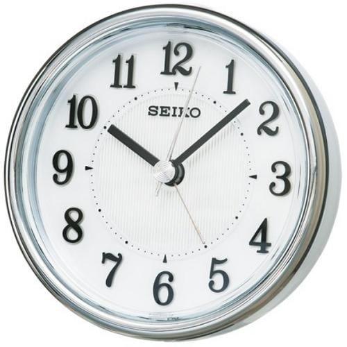 セイコークロック KR895W スタンダード 目覚し時計 白パール塗装 電子音アラーム(スヌーズ) スイープセコンド