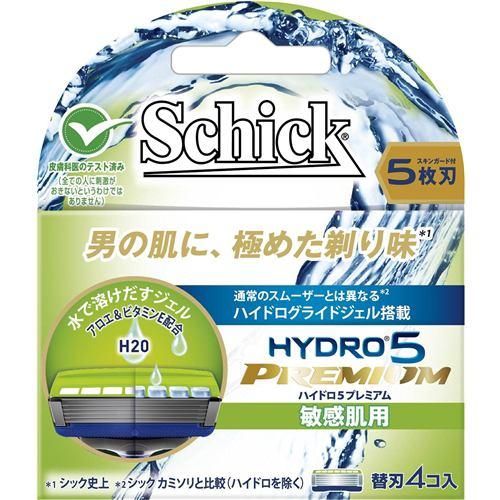 シック・ジャパン シック ハイドロ (Schick Hydro) 5プレミアム 替刃 敏感肌用 (5枚刃・4コ入)