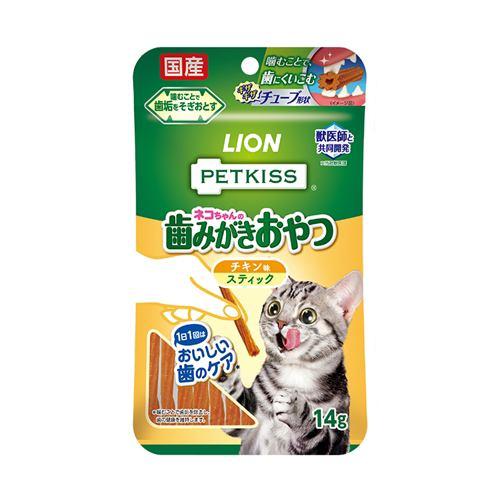 ライオン商事 PETKISSネコちゃんの歯みがきおやつチキン味スティック 7本
