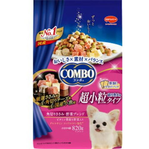 日本ペットフード コンボ ドッグ 超小型犬 角切りささみ・野菜ブレンド 820g