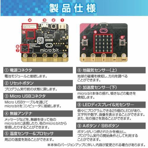 SB C&S プログラミング教育 micro:bit マイクロビット はじめてセット MB-A001 わかりやすい教材付き! ロボット プログラミング STEM教育